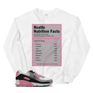 Hustle Facts Sweatshirt For Nike Air Max 90 OG GREY ROSE PINK, Men Women Sweater