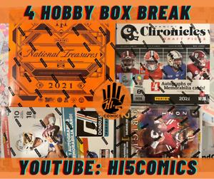Cincinnati Bengals 2021 Panini 4 Hobby Box Mixer Case Break (National Treasures