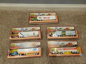 LOT OF 5 ROAD CHAMPS -ROAD RIGS - INTERSTATE FLEET TRACTOR TRAILER - VINTAGE NEW