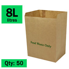 Paper Compostable Kitchen Caddy Bags - Ecosack 50x 8 L