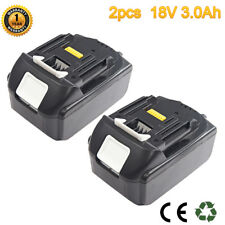 2X Battery For Makita BL1815 BL1830 BL1840 LXT400 Lithium Ion Drill 18V 3.0Ah