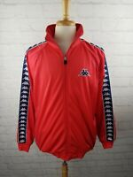 VINTAGE 90s Kappa Red LOGO Track Jacket Full Zip - Men's XL Vtg 1990s