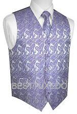 Men's Paisley Tuxedo Vest, Tie and Hankie. Formal, Dress, Wedding, Prom