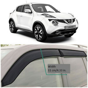 NE13210 Window Visors Vent Wide Deflectors For Nissan Juke (YF15) 2010-2018