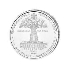 SERBIE 100 Dinar Argent 1 Once Tesla Energie Gratuite 2021