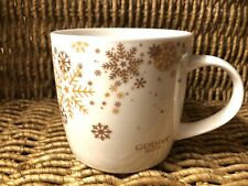 Godiva Holiday Gold Snowflake Oversized Coffee Mug Cup Collectible Stoneware
