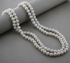 """New Cultured Freshwater Knotted Pearl Necklace - 42""""- 8-9mm - Silver Clasp"""