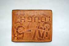 Tough Jean Genuine Leather  Wallet Vintage Brown MILITARY SURPLUS