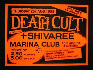 The Cult Poster ( Death Cult ) Repro A3 Size 24HR DISPATCH FREE POSTAGE