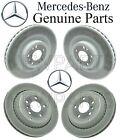 For Mercedes W164 X164 ML GL R Set 2 Front & Rear Disc Brake Rotors Kit Genuine