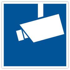"1er ""Videoüberwachung"" Aufkleber 90x90 mm Kamera Überwachung videoüberwacht blau"