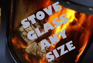 BESPOKE STOVE GLASS CUT TO ANY SIZE OR SHAPE HIGH DEFINITION REPLACEMENT GLASS