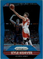 2015-16 Panini Prizm Prizms Light Blue Hawks Basketball Card #38 Kyle Korver/199