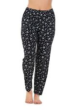 Ladies Floral Printtrousers Stretched Elasticated Summernarrow Leg HAREM Tapered Style 4 L/xl