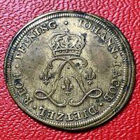 #4175 - LOUIS XV : JOLI JETON DE NUREMBERG AUX 2L ENTRELACES DE J.J.DIETZEL