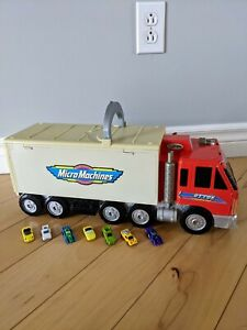 Vintage MICRO MACHINES Otto's Trucking PLAYSET with 7 cars ** 1998 Galoob / L@@K
