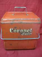 Vintage 1950's Red Metal Coronet Cooler