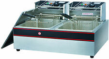 5KW Commercial Deep Fryer Basket Electric Twin Double Tank Fat Chip 22.5L