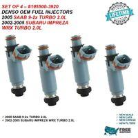 DENSO OEM FUEL INJECTORS 4X for 2002-2005 SUBARU IMPREZA WRX  2.0L | 195500-3920
