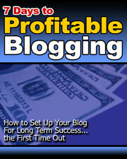 7 Days to Profitable Blogging PDF eBook with resale rights!