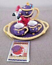 Mary Engelbreit 15th Anniversary Of Believe Christmas 5pc Mini Tea or Cocoa Set