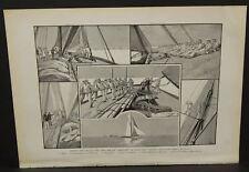 Harper's Weekly Single Pg. Captain Haff Drilling Crew for Defender C1890s B4#25