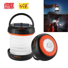 Linternas De Camping LED Linterna Bater/ía Recargable Accionado por El Panel Solar Y La Carga del USB L/ámpara Plegable para