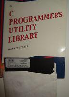 Frank Whitsell - C Programmer's Utility Library - Book & Diskette. For IBM PCs.