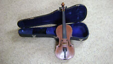 Vintage 4/4 Violin Antonius Stradivarius Copy Made In Czecho-Slovakia? w/Case
