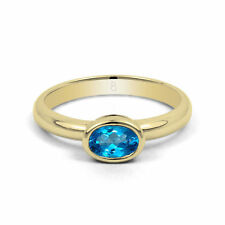 18 Carat Solitaire Yellow Gold Oval Fine Gemstone Rings