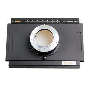 Nikon DF D4 D7000 DSLR Digital Back Adapter For 4x5'' Camera Toyo Linhof Ebony