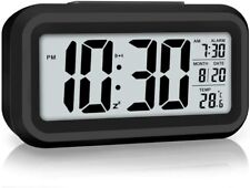 Digital Alarm Clock Temperature Heavy Sleepers Large Display Led Usb, Battery Us