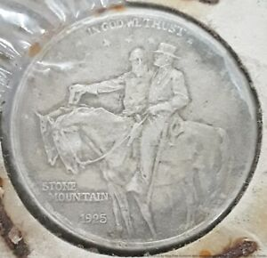 1925 Stone Mountain USA Silver Half Dollar 50c Commemorative Coin Nice Details