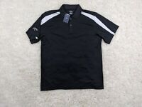 NEW Callaway Performance Polo Shirt Men XL Extra Large Black White Moisture Wick