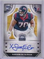 2014 Crown Royale Rookie Signatures Gold Plaid Xavier Su'A-Filo Auto RC 05/25