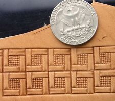 013-10 Quadratic BORDER leather stamp Brass Saddlery Tool Punch 3D homemade