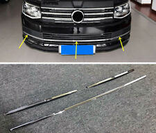 For VW Caravelle T6 2017 2018 ABS Front Grille Grill Bottom Decoration Trim 3pcs