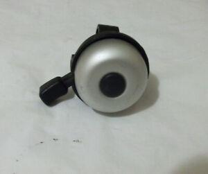 MATT SILVER BIKE BELL 45mm DIAMETER for 22.2mm handlebars