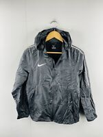 NIke Junior Unisex Vintage Full Zip Logo Hooded Athletic Jacket Size XL Black