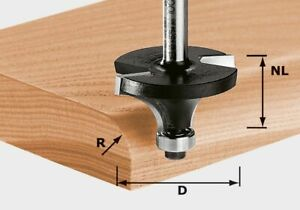 Festool Abrundfräser HW Schaft 8 mm HW S8 D25,5/R6,35 KL - 491013