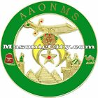 Z-84 AAONMS Shriner Auto Emblem Shrine Temple FreeMasonry Mason Masonic Car