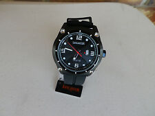 Lancaster Men's OLA0481NR Trendy Black Textured Dial Black Silicone Watch