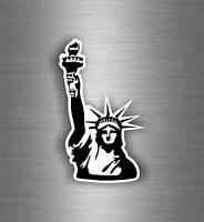 Autocollant sticker decoration mural chambre statue liberte new york