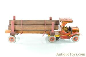 Ferdinand Strauss Timber Truck Marx Tin Windup