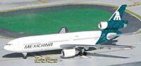 Aeroclassics ACN907WA Mexicana DC-10-1 Green Tail N907WA Diecast 1/400 Jet Model