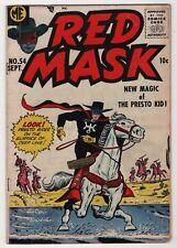 Red Mask #54 Presto Kid, Black Phantom 1957 Western classic create-a-lot & save