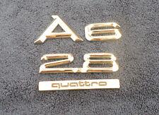 1998-01 AUDI A6 2.8 & QUATRO TRUNK EMBLEMS (4 PIECES)