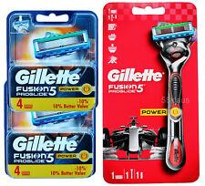 Gillette Fusion 5 PROGLIDE POWER Rasoio flexball (Red) + 8 lame (2x 4er OVP)