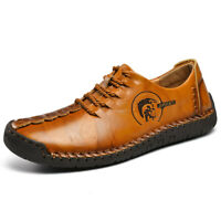 Mens Casual Loafers Lazy Driving Soft Shoes Leather Slip On Breathable Moccasins