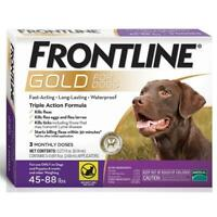Frontline Gold for Large Dogs 45-88 lbs, 3 Doses (NEW & Free Shipping)